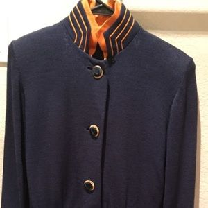 Navy & Orange St John Knit Dress sz 2